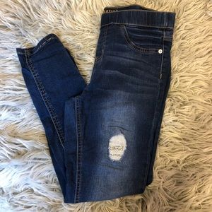 Justice jeans plus with with Ripped and patched